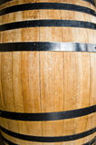 Oak barrel. A renovated old oak barrel used for aging of wine or spirits Royalty Free Stock Photo