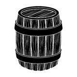 Oak barrel beer. A barrel in which beer is brewed. Pub single icon in black style vector symbol stock illustration. Stock Image