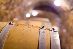 Oak barrel closeup Royalty Free Stock Photo