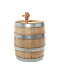 Oak Barrel On White Stock Image