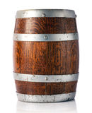 Oak barrel for storage of wine, beer or brandy Stock Photos