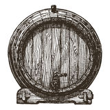 Oak barrel vector logo design template. beer or Royalty Free Stock Images