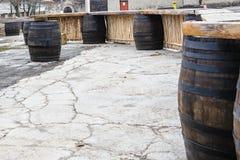 Oak barrel Stock Photo