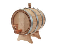 Oak Barrel On White Royalty Free Stock Images