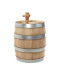 Oak Barrel On White Stock Image