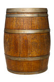Oak Barrel on White Stock Images