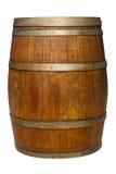 Oak Barrel on White. An old oak barrel on a white background Stock Images