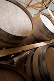 Oak barrels maturing red wine Royalty Free Stock Photography