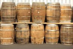 Oak barrels Stock Photos