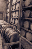 Oak barrels in RIk house royalty free stock photography