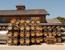 Oak Barrels, Roblar Winery and Vineyard Royalty Free Stock Photos