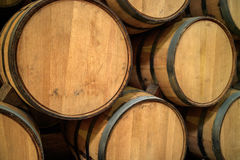 Oak barrels. Tequila resting in oak barrels, Guadalajara, Jalisco Stock Images