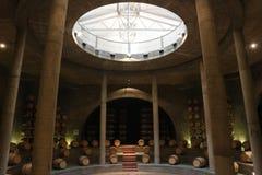 Oak Barrels in Vineyard, Argentina Royalty Free Stock Photo