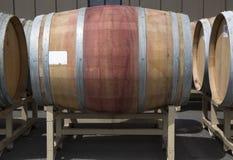 Oak barrels at the vineyard Royalty Free Stock Image