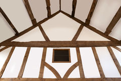 Oak beamed ceiling Stock Photos