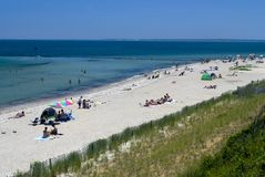 Oak Bluffs Beach. A nice Summer day at Oak Bluffs Beach at Martha's Vineyard on Cape Cod Stock Image