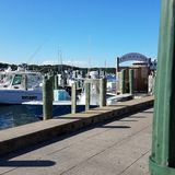 Oak Bluffs Harbor. Harbor scene in summer Stock Photo