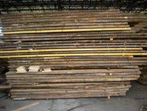 Oak boards stock image