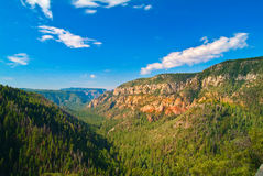 Oak Canyon, New Mexico. Landscape of Oak Canyon in New Mexico State park stock photography
