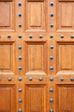 Oak chateau door Stock Photography