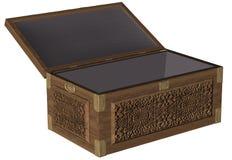 Oak chest fully open Stock Images