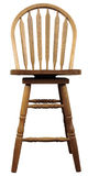 Oak Country Bar Stool. Solid Oak Country Bar Stool in Medium Finish Stock Images