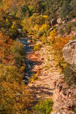 Oak Creek Canyon in Fall Stock Image