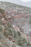 Oak Creek Canyon in Winter Stock Images