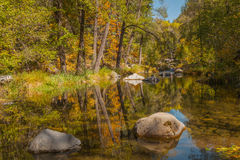Oak Creek in Fall Stock Images