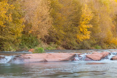 Oak Creek Sedona Arizona in Autumn Royalty Free Stock Image
