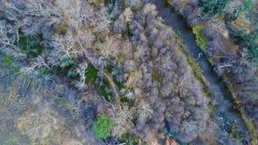 Oak Creek top view stock footage