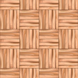 Oak Cubical Parquet Wooden Vector Seamless Pattern Background. Stock Photography