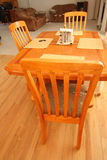 Oak dining set and living room Royalty Free Stock Photography
