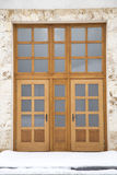 Oak door Royalty Free Stock Image