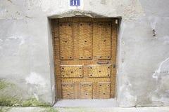 Oak door street Stock Photography