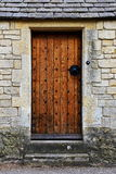 Oak Door. Oak Wooden Front Door of an Old English House Royalty Free Stock Images