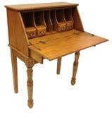 Oak Drop Lid Secretary Desk. Country Style Light Oak Drop Lid Secretary Desk Royalty Free Stock Photography