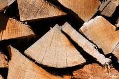 Oak firewood Royalty Free Stock Photography