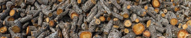 Oak Firewood Cut Stock Images