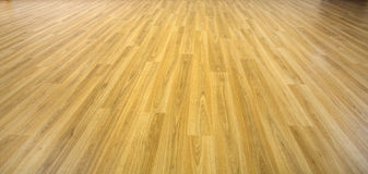 Oak flooring in perspective front view. Flat expanse of of wooden flooring Royalty Free Stock Photography