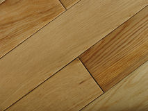 Oak flooring planks. Natural oak floor - great for showing natural difference in colour and closeness of fit royalty free stock image
