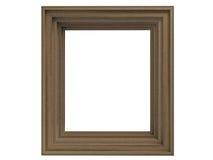 Oak frame. Isolated on white background royalty free stock photography