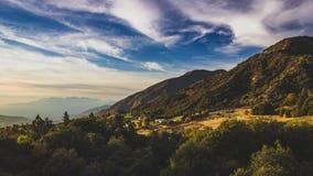 Oak Glen Scenic Overlook. Beautiful overlook of mountain and valley at sunset, Oak Glen, California royalty free stock images
