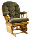 Oak Glide Rocking Chair. Contemporary Oak Glide Rocking Chair in Tweed Fabric Royalty Free Stock Images