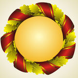 Oak golden wreath Stock Image
