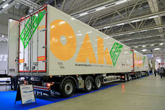 OAK Green Double 88 Tonne Combination Vehicle Royalty Free Stock Images