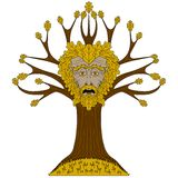 Oak Greenman in tree Stock Photos