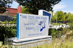 Oak Grove High School. Is a secondary school located in San Jose, California which serves students in grades 9–12. Average student enrollment is 1950 students Royalty Free Stock Photo