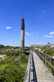 Oak Island Lighthouse. Lighthouse is located on Caswell Beach, North Carolina. Built in 1958, 148 foot tall beacon royalty free stock photos