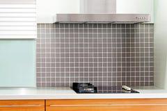 Oak kitchen stove stock photos
